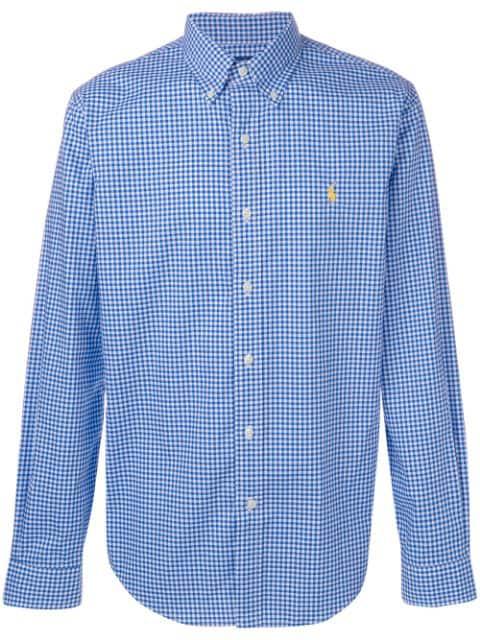 Ralph Shirt Lauren Button Down Polo Blue bf6gy7