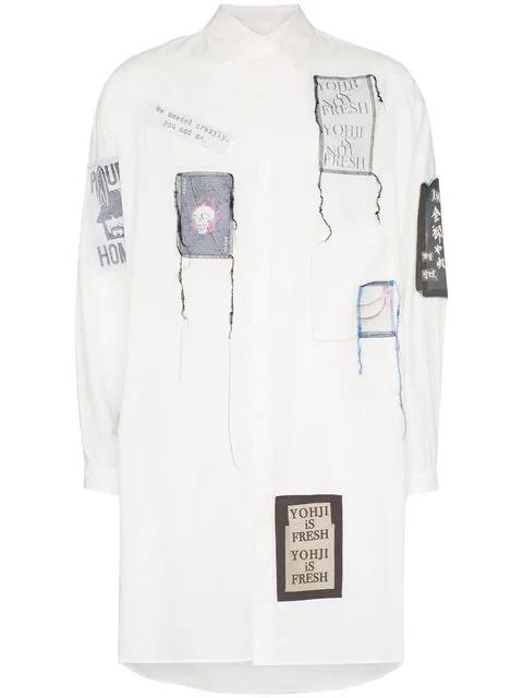 Yohji Yamamoto Chain St Emblem Shirt In White