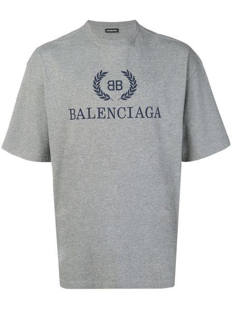 e6dc6166419 Bb Logo Oversized Tee in Grey