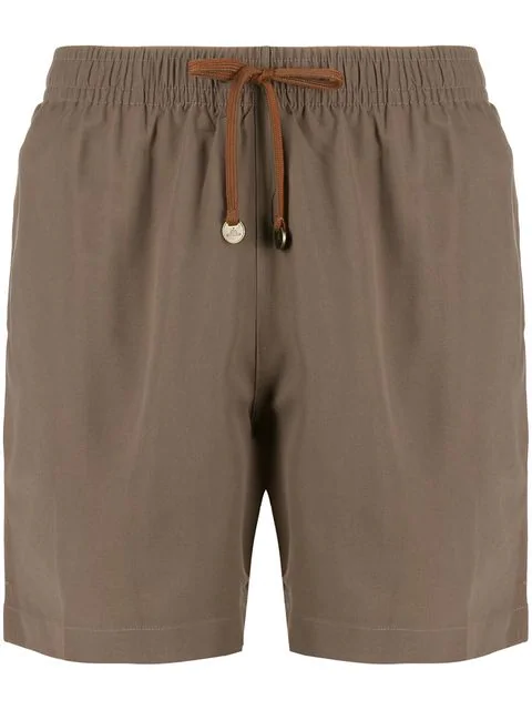 d5ea4999e4 Timo Trunks Drawstring Swim Shorts - Brown in Tropical Brown