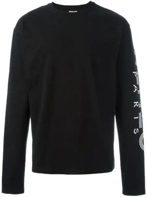 KENZO For 2016 Mens Printed Long Sleeve tops t shirts