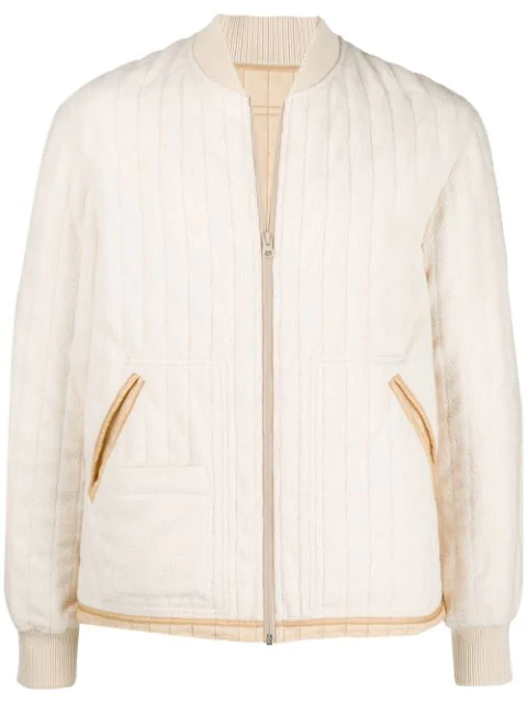 49c6566d2 Liner Bomber Jacket In Cream in Neutrals