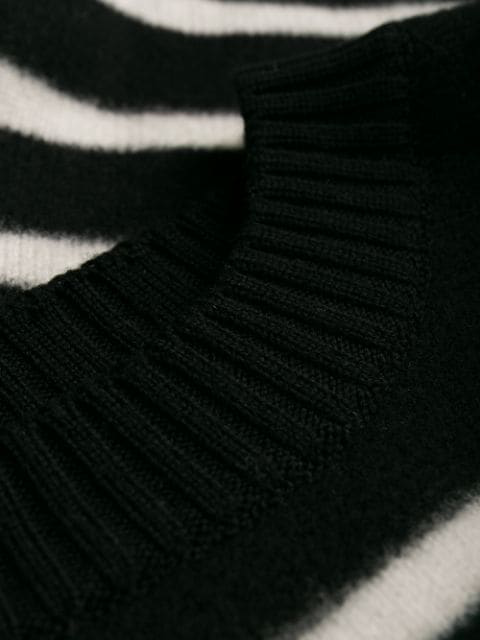 Saint Laurent Sailor Sweater In Felted Wool In Black