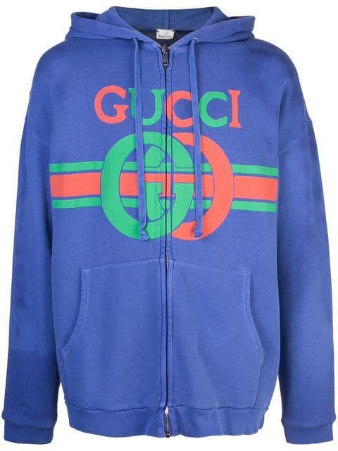 f41df333 Gucci Gg Interlocking Print Sweatshirt in Purple