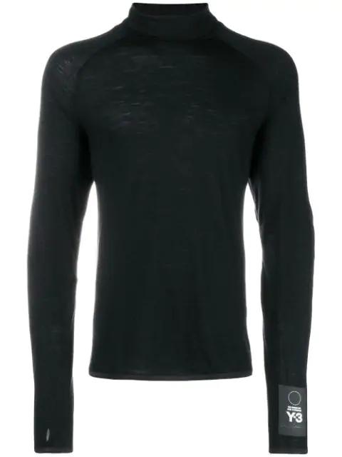 Y 3 Pullover Mit Stehkragen Schwarz In Black