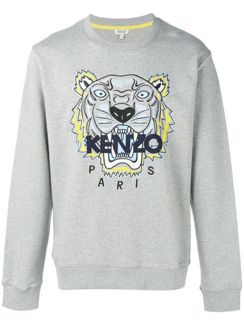 Tiger Cotton Sweatshirt In 94 Grey