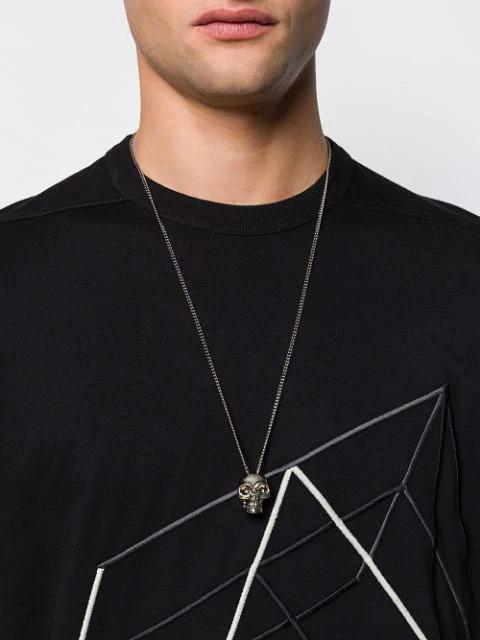 Alexander Mcqueen Skull Necklace - Silver In 0446 Silver/Antil