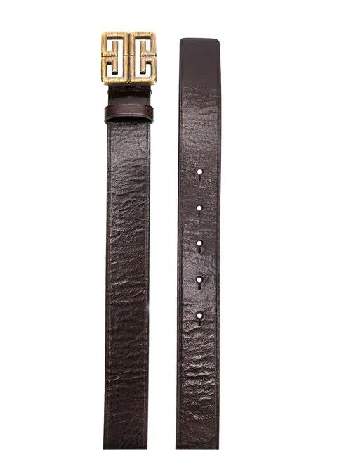 Givenchy GüRtel Mit 4G-Schnalle - Braun In Brown