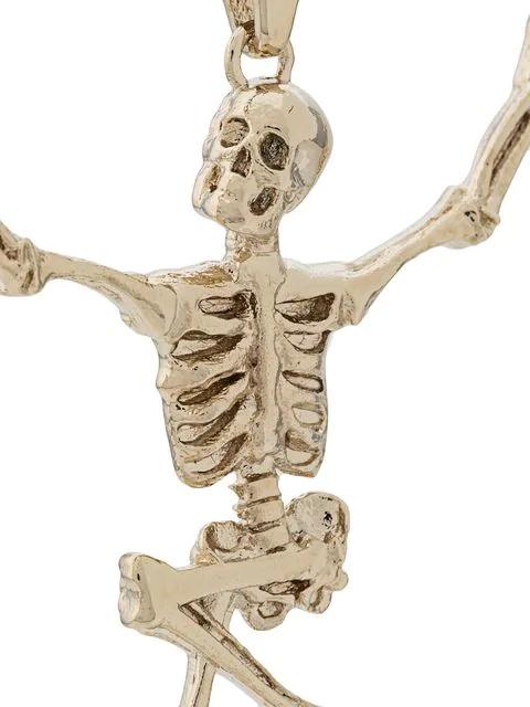Alexander Mcqueen - Dancing Skeleton Necklace - Mens - Gold In Metallic