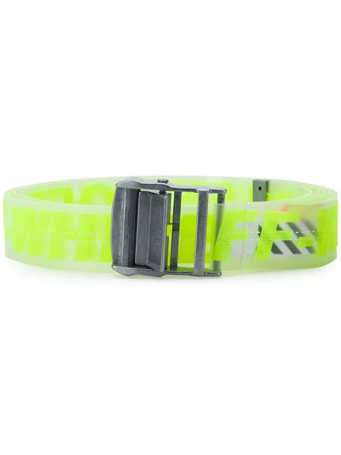 c4fdc5a7 Off-White 35Mm Logo Industrial Belt In Neon Yellow | ModeSens