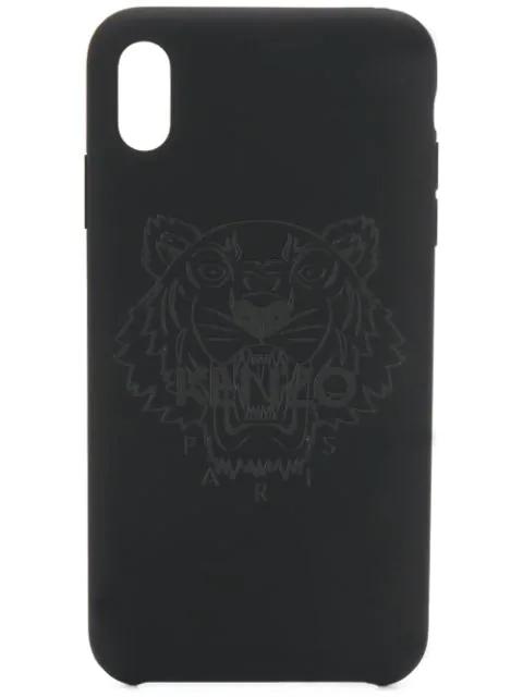 check out 52211 24bd9 Kenzo Iphone X Logo Phone Case - Black