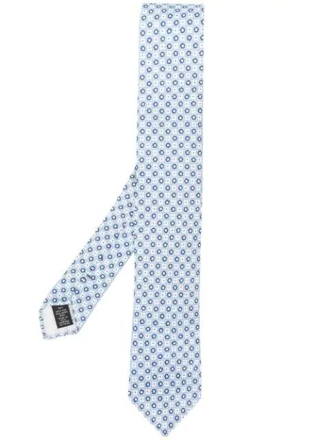 9edea0e8 Ermenegildo Zegna Geometric Floral Pattern Tie - Blue