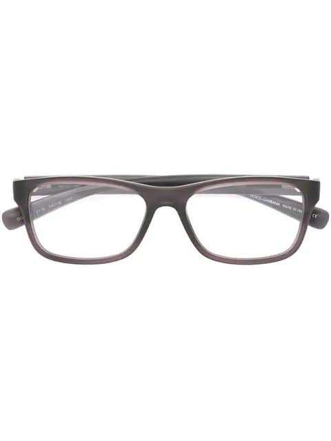 96731e82b7af Dolce & Gabbana Eyewear Rectangular Frame Glasses - Black   ModeSens