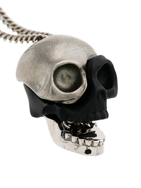 Alexander Mcqueen Skull Charm Necklace - Silver
