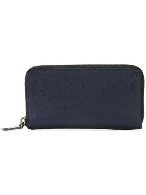 f55c62ac2d Coach Zip Around Phone Wallet In Pebble Leather - Blue