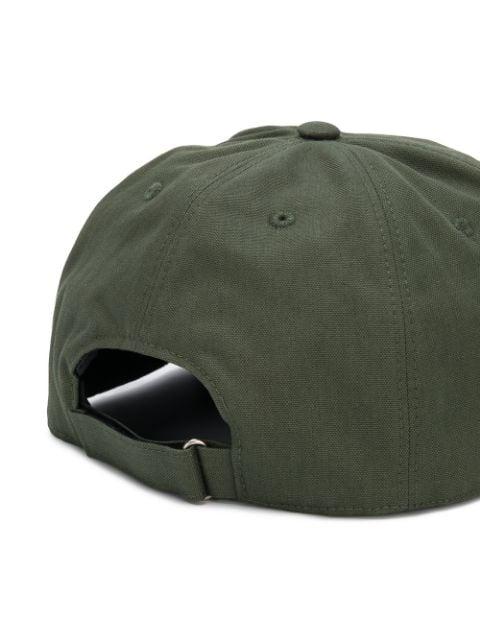 Givenchy Logo Cotton Baseball Cap In Green