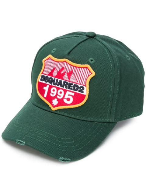 4464d8a95 Dsquared2 Logo Patch Baseball Cap - Green