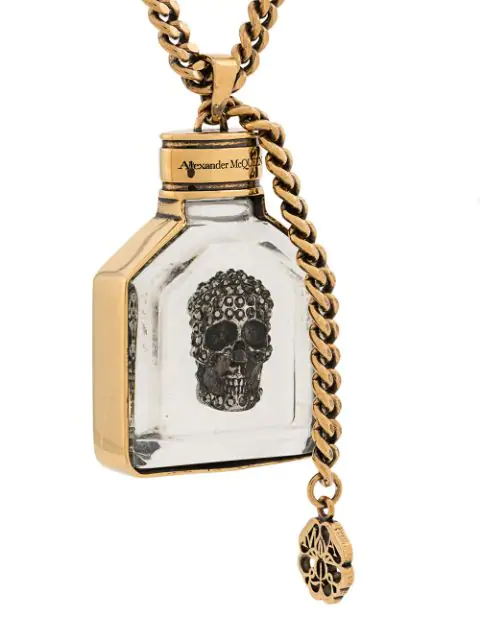 Alexander Mcqueen Jewelled Skull Necklace - Gold