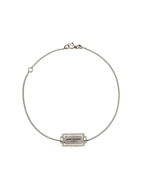 Razor Blade Chain Bracelet 银色