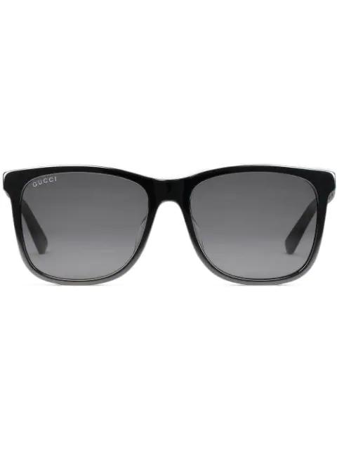 f67d2431b518 Gucci Square-Frame Acetate Sunglasses In Black | ModeSens