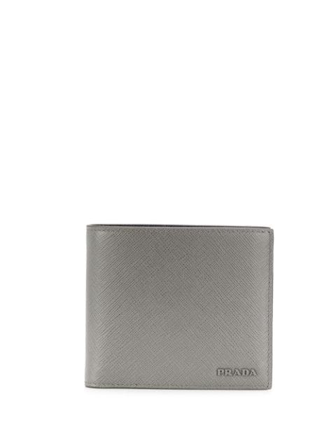 a482bc68 Prada Logo Billfold Wallet - Grey