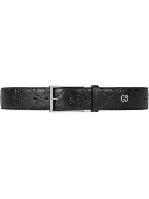 Gucci Leather Belt In Black