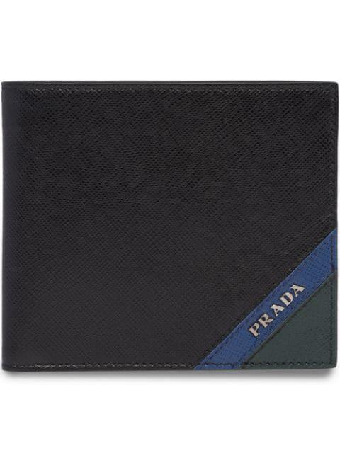 283d4e52 Saffiano-Leather Cardholder in Black