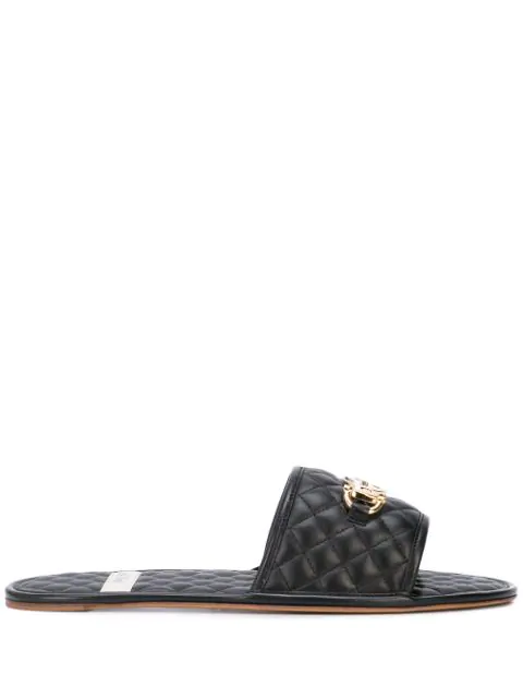 Gucci Men's Slide Sandal With Interlocking G Horsebit In Black