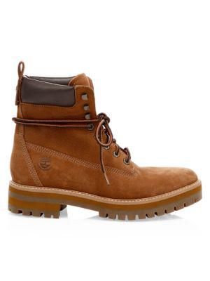 763d37170dc Courma Guy Waterproof Leather Combat Boots in Rust Nubuck