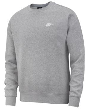 Men's Club Crew Fleece Sweatshirt In Grey