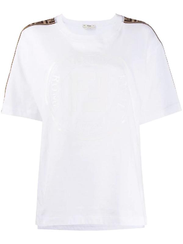 0fbe4b6984 Ff Monogram Shoulder Stripe T-Shirt