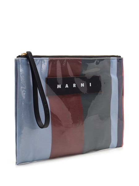 Marni Glossy Small Clutch In Red