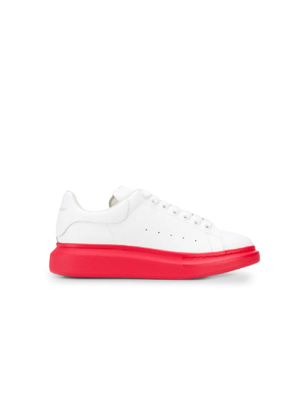 Alexander Mcqueen 'Oversized Sneaker' In Leather With Contrast Outsole In White