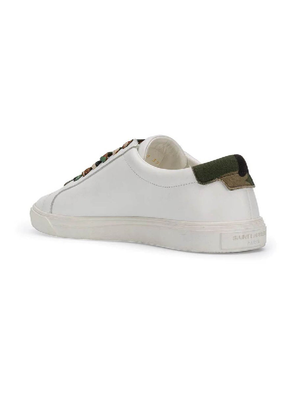 a00f6433 20Mm Andy Leather & Camouflage Sneakers in White