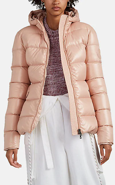 premium selection 584e2 99a2c Rhin Semi-Fit Puffer Jacket W/ Hood in Pink