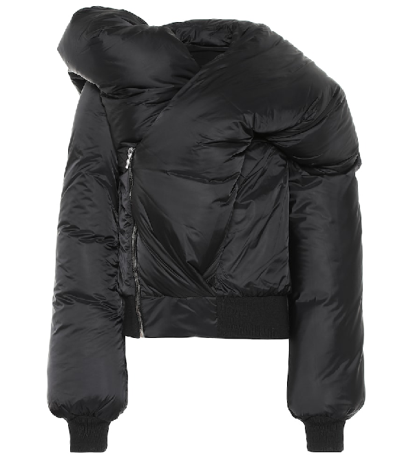 8b28fb812 Doll Oversized Padded Shell-Down Jacket in Black