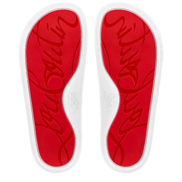Christian Louboutin Men's Beau Pool Slide Sandals In Black