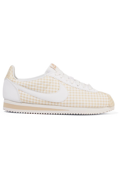brand new a20a0 e176b Classic Cortez Gingham Canvas Sneakers in Beige