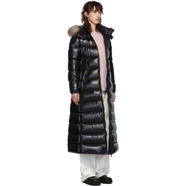 d696f7578 Black Down Hudson Long Coat