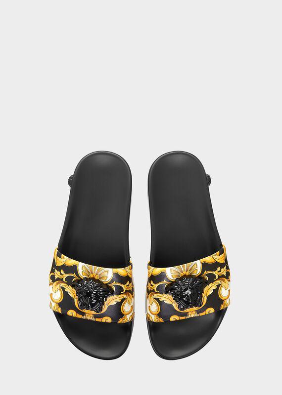 Versace Palazzo Medusa Pool Slide Sandals In Yellow
