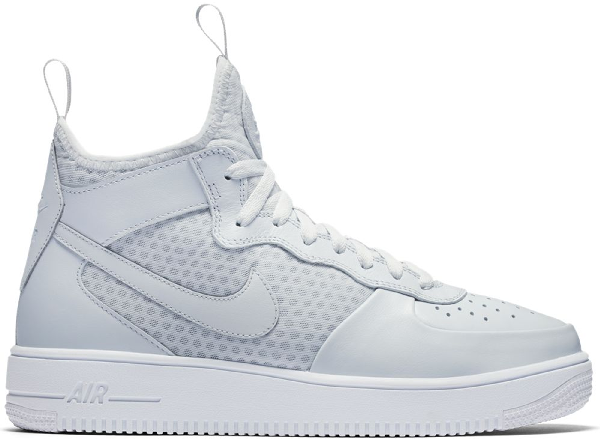 Nike Air Force 1 Ultraforce Mid Pure Platinum In Pure Platinumpure Platinum