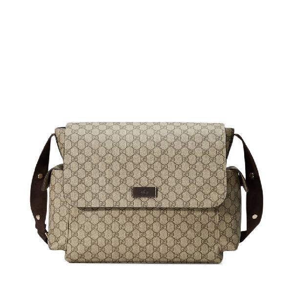 Diaper Bag Crossbody Gg Supreme Brown