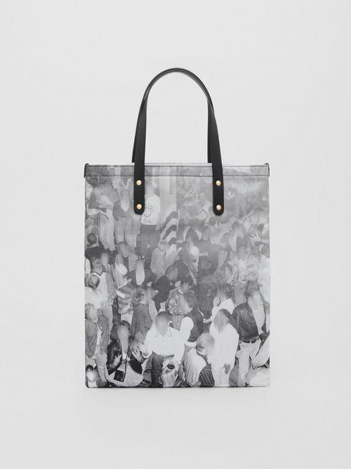 6f19390d27e Rave Print Nylon Tote Bag in Black