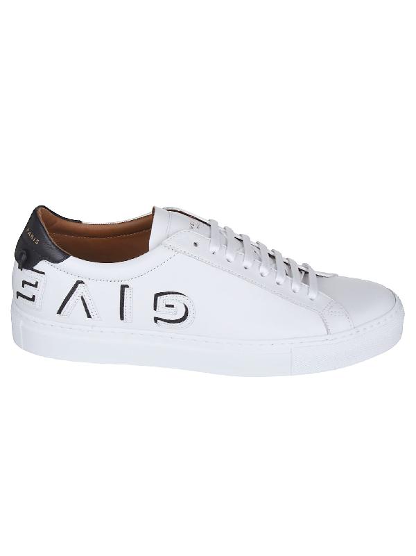 Givenchy Low-Top Sneakers Urban Street Calfskin Logo Black White In 11642 White/Black