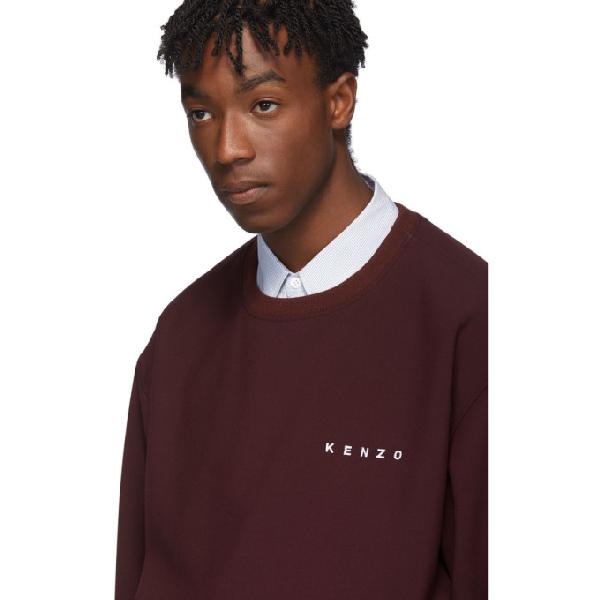 71f158a4 Kenzo Burgundy Woven Cady Sweatshirt in 23 Bordeaux