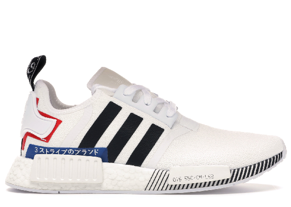 Pre Owned Adidas Originals Adidas Nmd R1 Japan White 2019 In Off White Core Black Lush Blue Modesens