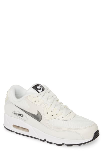 Men's Air Max 90 Essential Casual Shoes, White Size 8.0