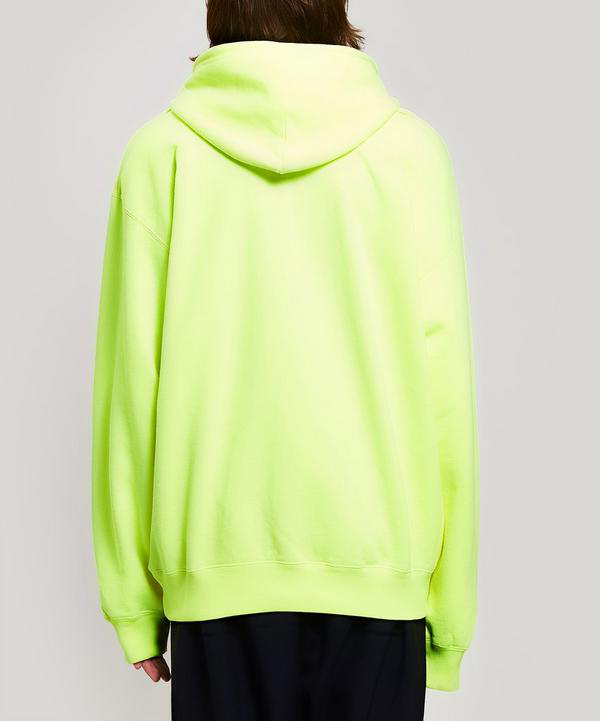 Balenciaga Logo-Print Loopback Cotton-Jersey Hoodie In 7050 Yellow