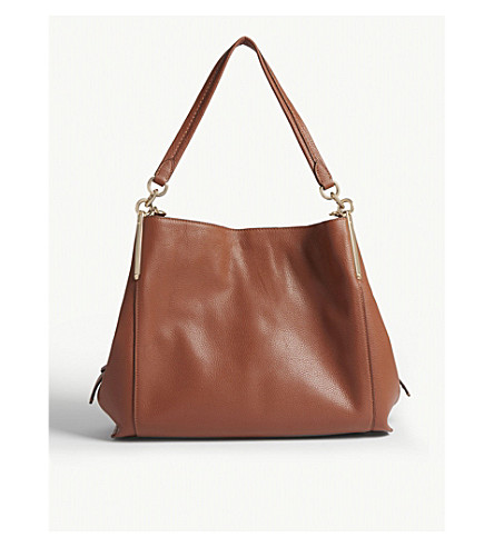 Dreamer 31 Grained Leather Hobo Bag In Gd/1941 Saddle