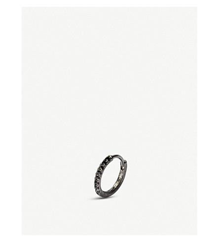 ANNOUSHKA DUSTY DIAMONDS 18CT BLACK RHODIUM-PLATED WHITE-GOLD AND DIAMOND SINGLE EARRING
